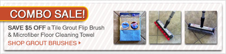 Combo Sale $5 off Tile Grout Flip Brush & Microfiber Floor Cleaning Towel