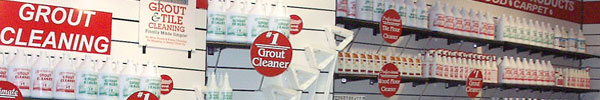 The Grout Cleaning Store showroom groutrageous product