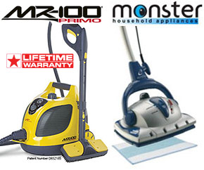 Vapamore MR-100 Primo steam cleaner information page.