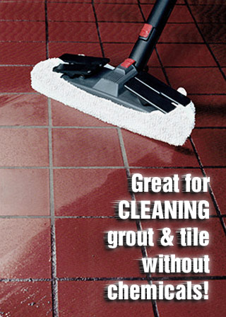 Steam cleaning grout tile no chemicals