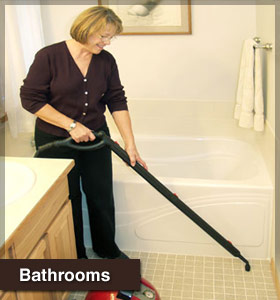 Use the ladybug steam cleaner to steam clean bathroom tile